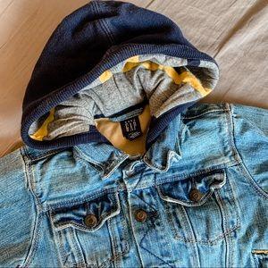 Baby Gap • Hooded Denim Jacket